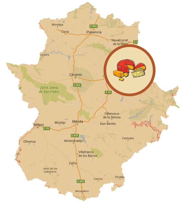 Mapa Ruta del Queso de Los Ibores